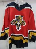 NHL Florida Panthers Authentic CCM Jersey w/ Hockey Stick & Palm Tree Shoulder Logos
