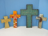 Group - Religious Crosses Resin Relief w/ Soaring Scripture 2 Timothy 1:7 10