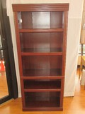 Simulated Cherry Finish Classic Bookcase w/ Adjustable Shelves