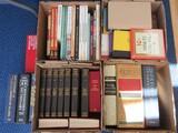 4 Boxes Misc. Books Dictionaries, Novels, Self-Help, Decorating, Etc.
