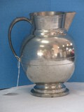 Art Décor Style Pewter Ball Pitcher Maker Stamped Initials B.R.S.