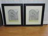 Pair - Signature Classic Matte Black Frames w/ Matts 16