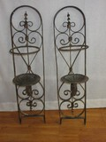 Awesome Pair - Spanish Mission Style Traditional Scroll Design Wall Décor Pillar Candle Sconces