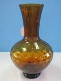 Hand Blown Amber Art Glass 13