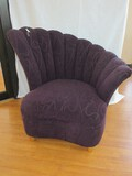Sam Moore Furniture La-Z-Boy Transitional Modern Curved Channel Back Slipper Chair