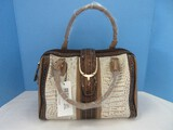 Madi Claire Genuine Leather Top Handle Hand Bag/Pocket Book