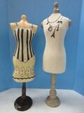 2 Home Decorative Mannequins Dress Forms 26 1/2