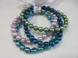 Honora Collection Set - 4 Genuine Multi-Color Cultured Pearls Stretch Bracelets