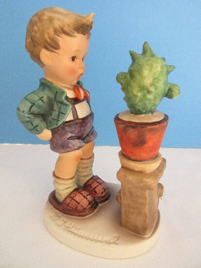"Vintage Goebel Hummel ""Confidentially"" #314 Figurine 6"" Boy w/ Cactus Circa 1979-1991"