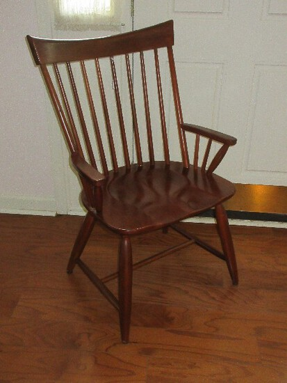 Classic Kincaid Furniture Solid Cherry Park Collection Windsor Curved Back Arm Chair
