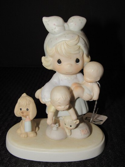 Precious Moments The Joy of The Lord is My Strength © 1985 Enesco Porcelain Figurine