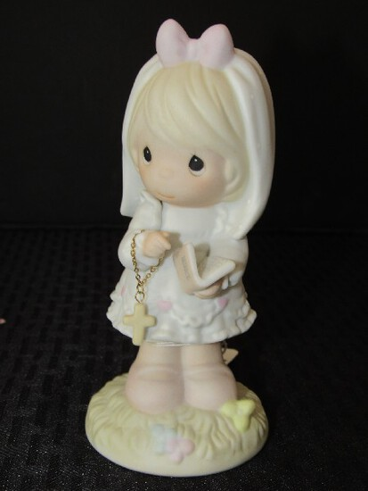 Precious Moments The Dog Has Been Made in Heaven © 1989 Enesco Porcelain Figurine