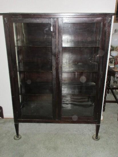 Depression Era Style Forsyth Line Mahogany Dining Room China Cabinet