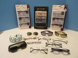 Group - Reading Glasses Design Optics by Foster Grant Full Metal Frames +1.50