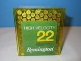 Remington High Velocity 22 Long Rifle Solid Bullet 100 Rim Fire Cartridges Ammunition