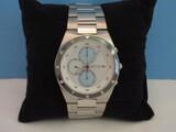 New Bering Men's Chronograph Solar Blue Ceramic Stainless Steel Wrist Watch