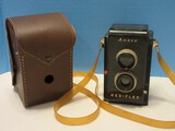 Vintage Ansco Rediflex 620 Size Film Camera w/ Leather Case