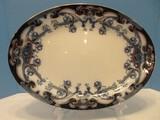 Antique Rare Find Wilkinson, Arthur J. Flow Blue Iris Blue Pattern Oval Serving Platter