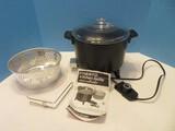 Presto Kitchen Kettle Electric Multi-Cooker w/ Handled Basket