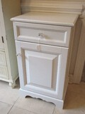 White Laminate Classic Design Cabinet w/ Drawer Base Panel Door & Interior Adjustable Shelf