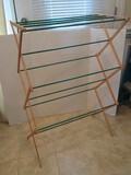Collapsible Folding Drying Rack Natural/Green