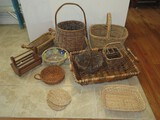 Basket Collection Large Handled Rectangular Basket, Gathering Baskets, Nappy