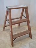 Werner Wooden Step ladder Model W130-4 Ladder Size 2ft Highest Standing 1ft 10