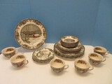 Awesome 30 Pieces - Johnson Brothers China Friendly Village Pattern Dinnerware