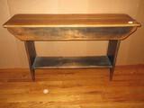 Quaint Cottage Farmhouse Chic Console/Accent Table Maple 2 Board Top