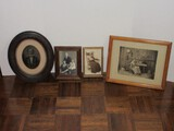 Vintage Framed Portrait Black & White Photographs Instant Relatives