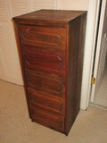 Transitional Modern Pine Lingerie Chest Groove Panel Design Drawer Fronts