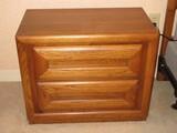 Pair - Bassett Furniture Oak Mid-Century Modern Collection Nightstands