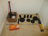 Exercise Group - Cardio Blades, Curl Bar, Cast Iron Weights, Heavy Hands 3lb Weights