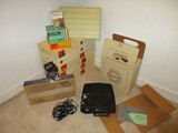 Vintage Kodak Carousel 750 Projector w/ Remote Control, 12 Carousel Transvue
