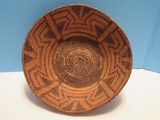 Native American Coiled Basket Bowl Complex Design
