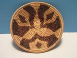 Native American Coiled Basket Bowl Traditional Design