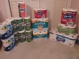 Paper Goods 50 Plus Rolls Bathroom Tissue Charmin Mega, Angel Soft 10 Rolls Paper Towels