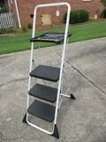 Cosco Triple Step Folding Ladder w/ Utility Tray