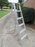 Aluminum A-Frame 6ft Step Ladder Highest Standing Level 3ft 10
