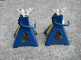 Pair - Automotive Metal Products Inc. Model JS-4HD Adjustable Safety Jack Stands 8000lbs Each