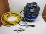 Campbell Hausfeld 100 PSI Max Electric Air Compressor w/ Yellow PVC Hose 3/8