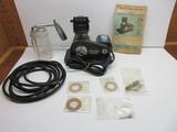 Vintage Miller Genuine Piston Compressor Spray Unit w/ Booklet