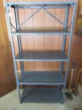 Gray Metal Utility Storage Shelf Unit Rack