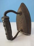 #5 Sad Iron w/ Embellished Handle Base
