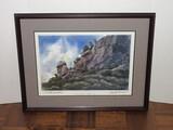 Chimney Rock North Carolina Artist Signed Renate Monetu w/ Personal Inscription Print