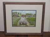 Sharecropper Farm Landscape Scene Charleston Folk Artist Signed Ravenel Gaillard