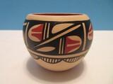 Signed L. Tsosie Cornhill of Jemez Pueblo Pottery Native American Traditional Design Vessel