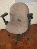 Haworth Executive Desk Chair w/ Upholstered Back/Seat on Casters Adjustable