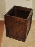 Oak Panel Design Waste Can Mission Style