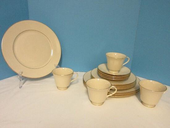16 Pieces Dinnerware - Lenox Fine China Hayworth Pattern